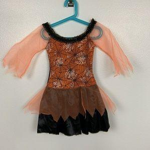 Halloween Girl Dress Costume Orange Black Sz: 8